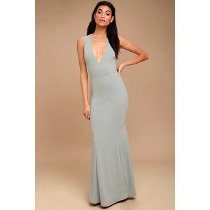 NWT Lulu's Heaven & Earth Gray Maxi Dress